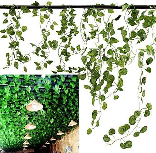 Bazaar 5 Types 2.1M 1PC Artificial Silk Fake Garden Hanging Plant Vine Wedding Decor