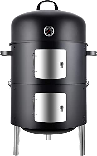 Realcook-Vertical-17-Inch-Steel-Charcoal-Smoker
