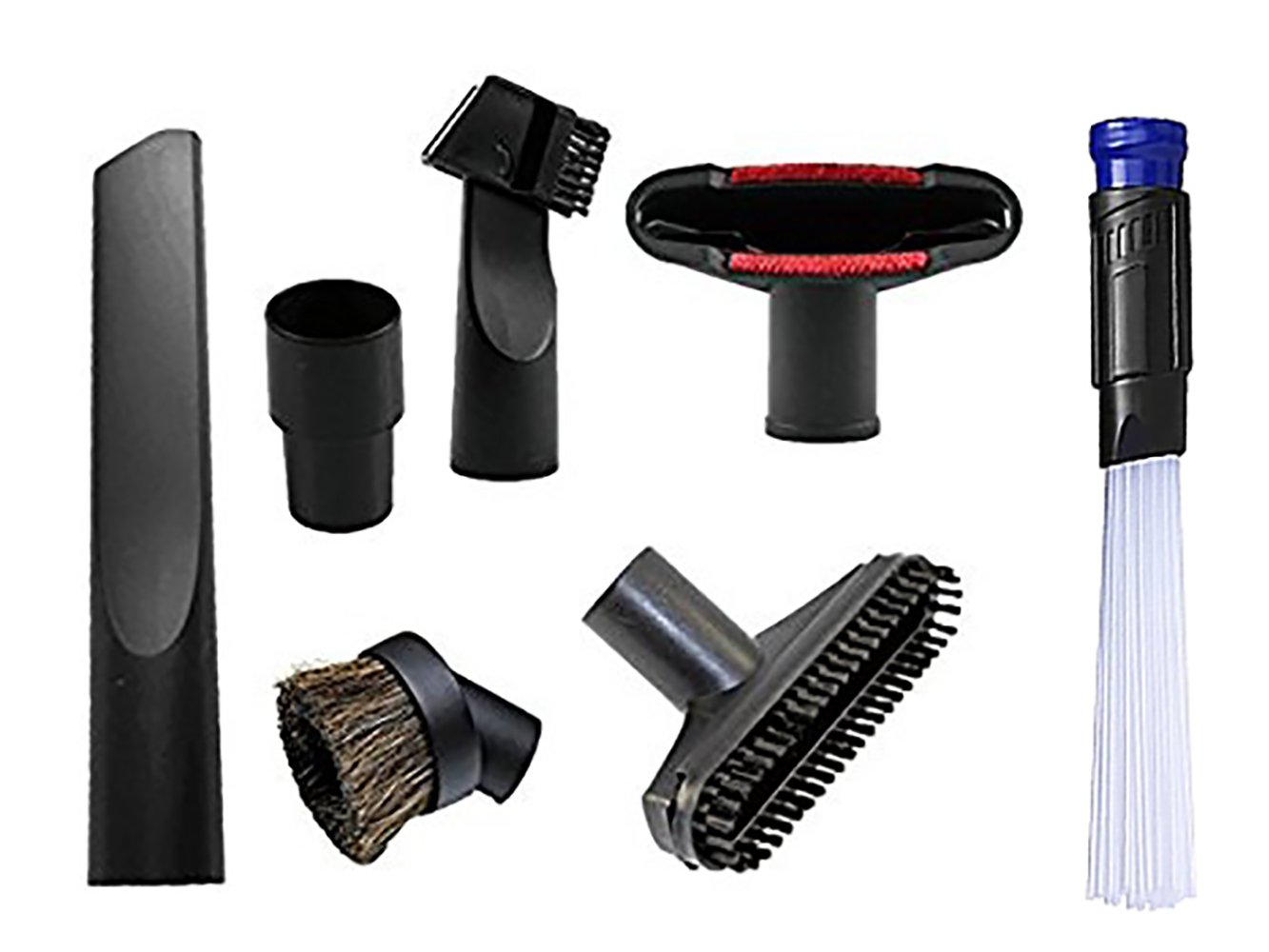 Wonlives Universal Replacement 32mm (1 1/4 inch Vacuum attachments) and 35mm (1 3/8 inch) Vacuum Accessories Dusty Brush Kit for Standard Hose Set of 7