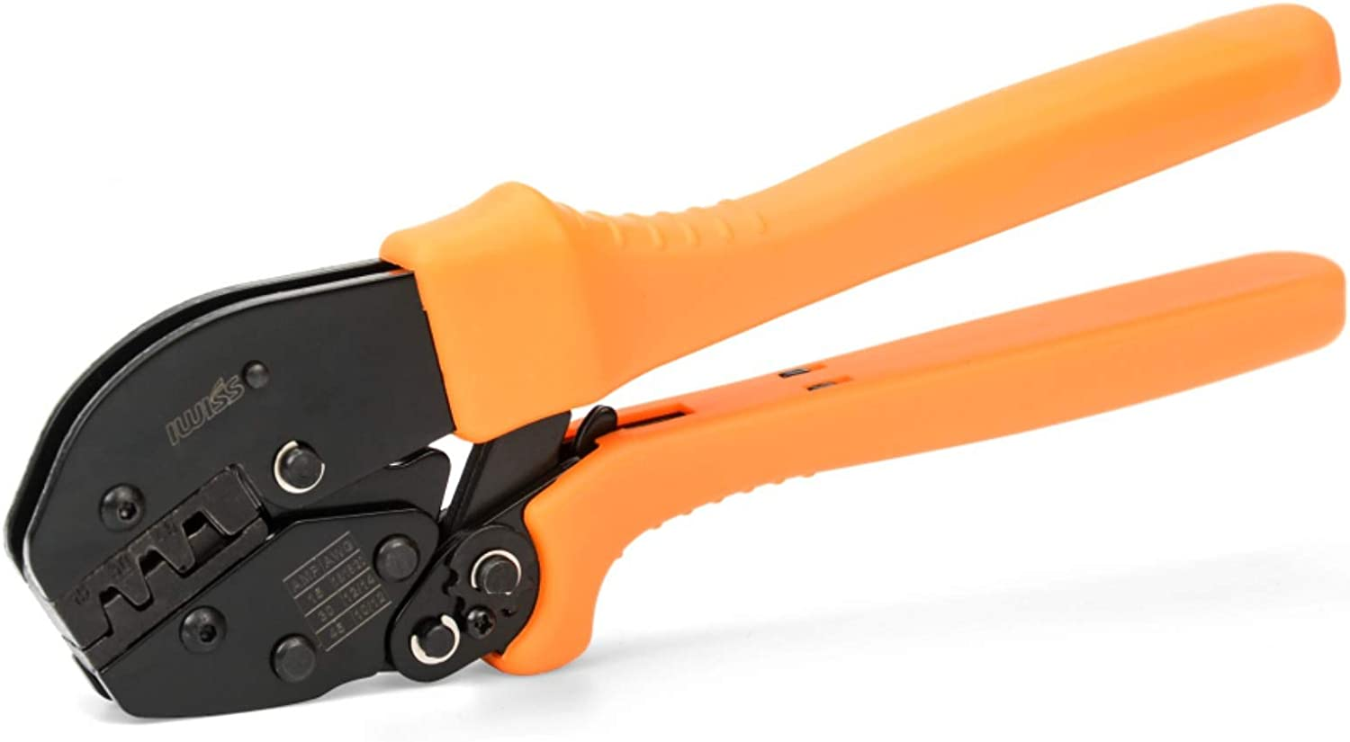 IWISS Ratcheting Wire Crimping Tool for 15, 30 and 45 AMP Power Connectors AWG 20-10