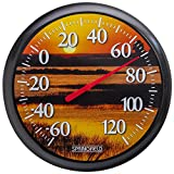 Springfield Sunset Low Profile Patio Thermometer (13.25-inch)