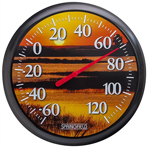 Springfield Sunset Low Profile Patio Thermometer (Low Thermometer)