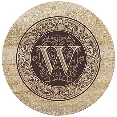Thirstystone Sandstone Trivet Monogram W