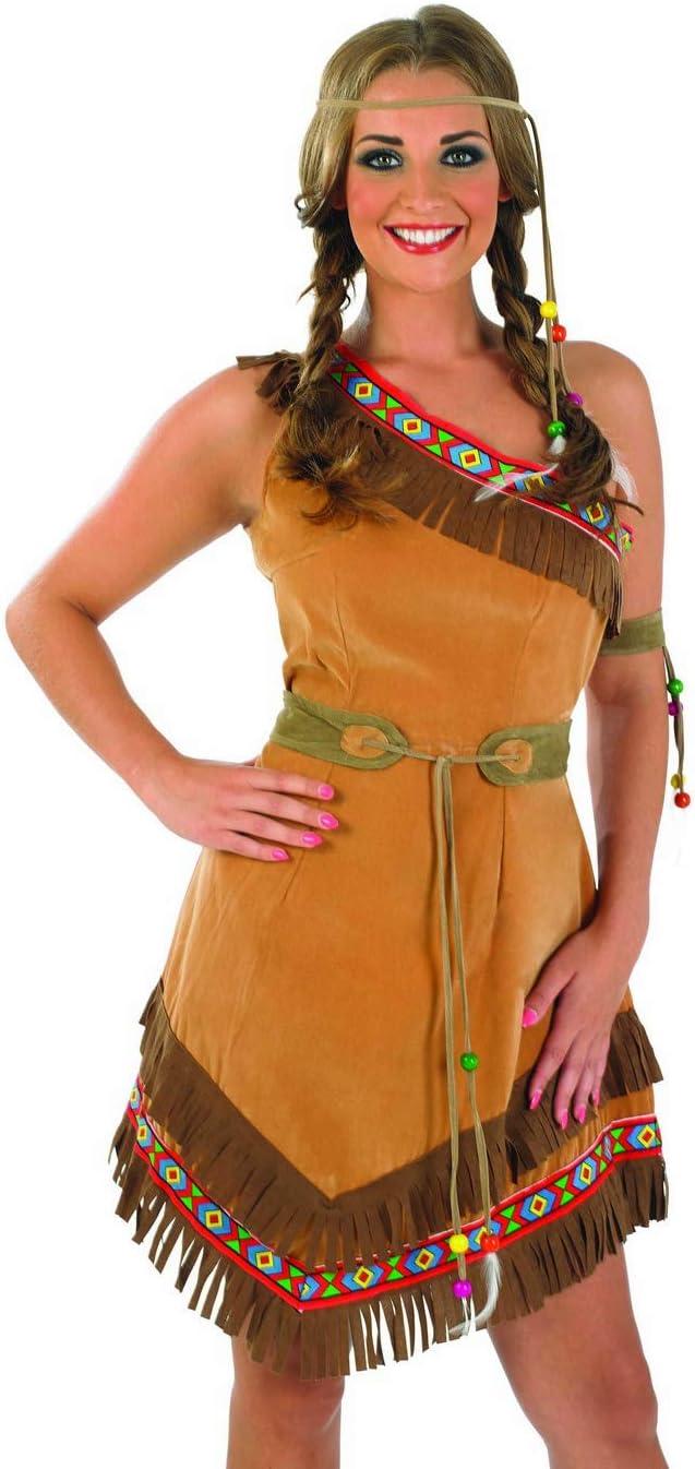 Fun Shack Marrón Nativo Americano Disfraz para Mujeres - L: Amazon ...