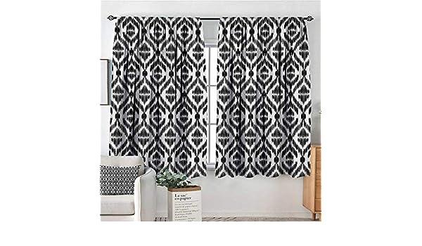 All of Better - Cortina de tela tribal para ventana, estilo abstracto azteca, estilo caleidoscopio, estilo bohemio étnico, patrón de sol, cortinas decorativas de 55 pulgadas de ancho x 39 pulgadas de