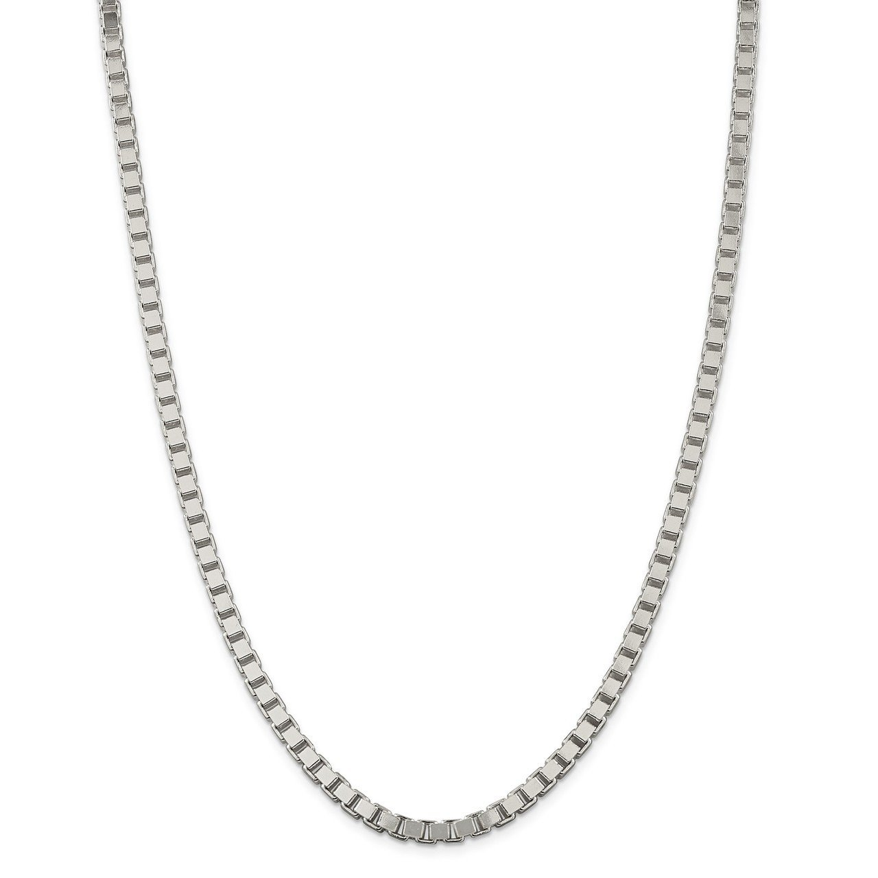Lex /& Lu Sterling Silver 4mm Box Chain Necklace