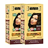 Indus valley 100% Botanical Dark Brown Organic Hair Color For Sensitive Skin - Pack of 2