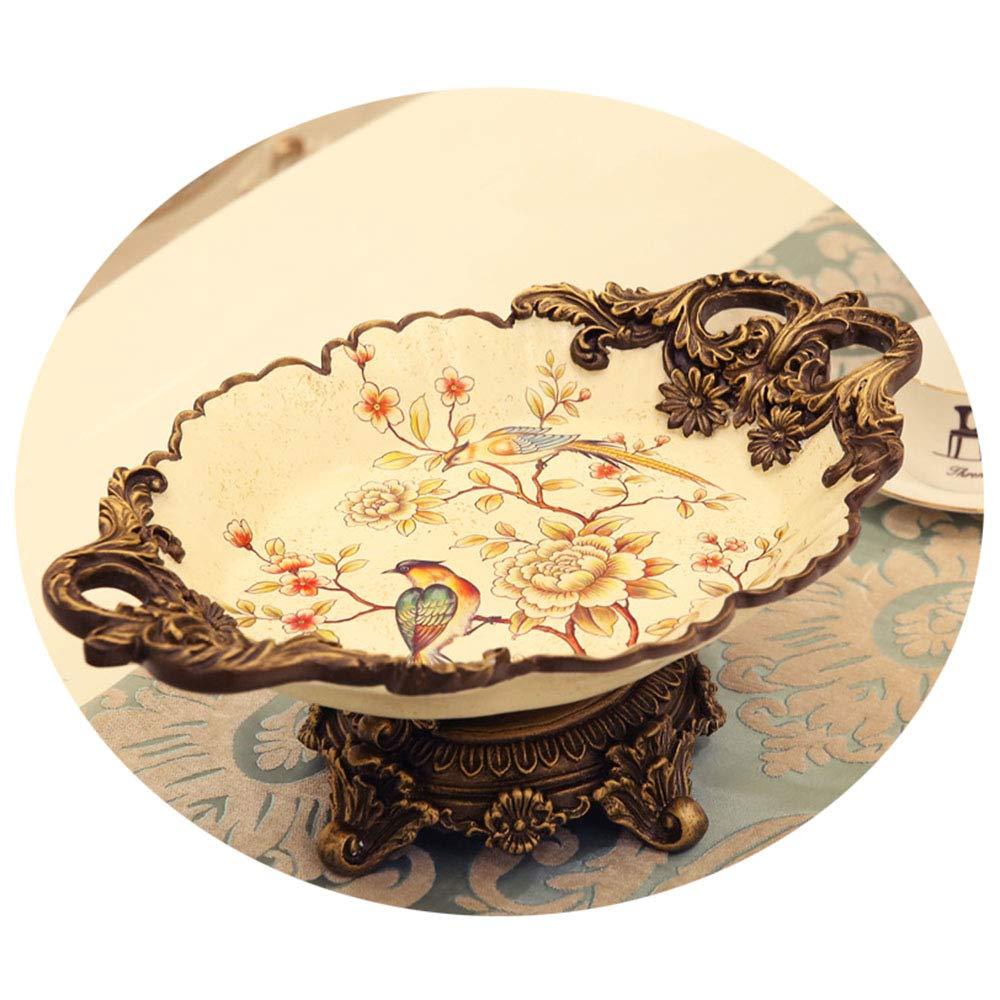 家庭用樹脂製フルーツボウル、リビングルーム用装飾キャンディ皿、大容量スナックトレイ   B07QKKHT1W