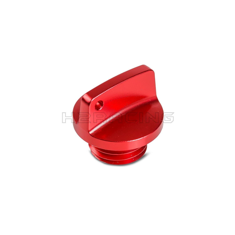 H2Racing M20x2.5 Red CNC Oil Filler Cap Plug for TRIUMPH DAYTONA 675/675 R 2013+, STREET TRIPLE RX 2015, WR250R/X 2007-2017, SEROW225 1999-2004, 250SB 2002-2006