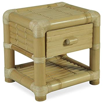 Vidaxl Table De Chevet 45 X 40 Cm Bambou Naturel