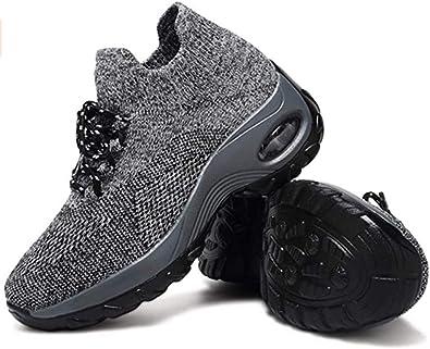 Zapatillas Deportivas de Mujer Gimnasio Zapatos Running Deportivos Fitness Correr Casual Ligero Comodos Respirable Negro Gris Morado 35-42: Amazon.es: Zapatos y complementos
