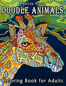 Amanda Neel Happy Coloring Doodle Animals Book For Adults