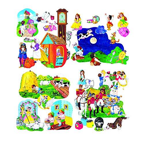 Little Folk Visuals Nursery Rhymes Combo Precut Flannel/Felt Board Figures, 47 Pieces Set