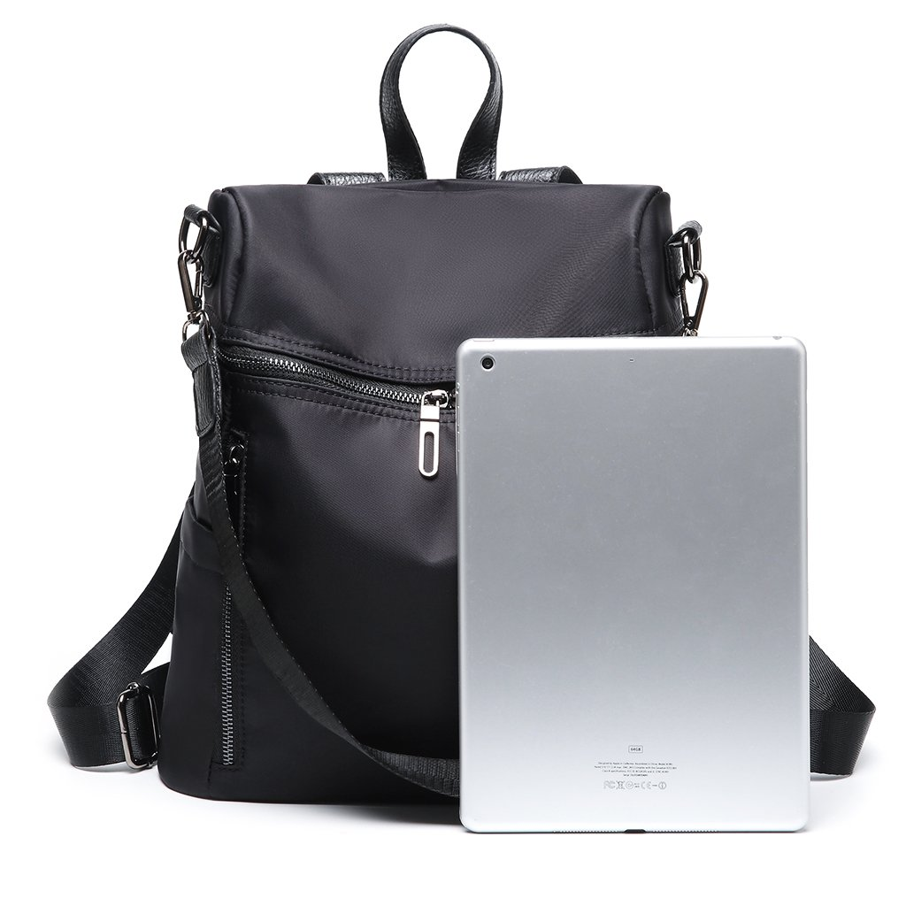 Thobu Women Fashion Nylon Backpack Purse Lightweight Schoolbag Travel Casual Daypack-Black by Thobu (Image #8)