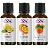 3-Pack Variety of NOW Essential Oils: Citrus Blend - Orange, Tangerine, Lemon
