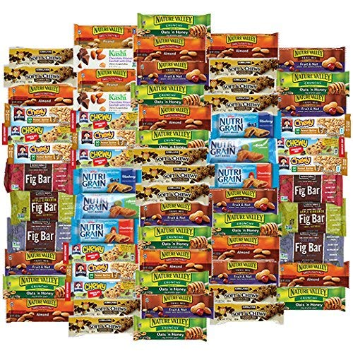 (Healthy Snacks To Go Healthy Mixed Snack Box & Snacks Gift Variety Pack (Care Package 66 Count))