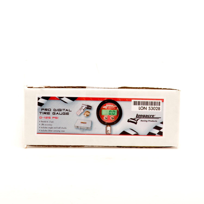 Longacre 52-53028 Tire Gauge Digital 0-125PSI
