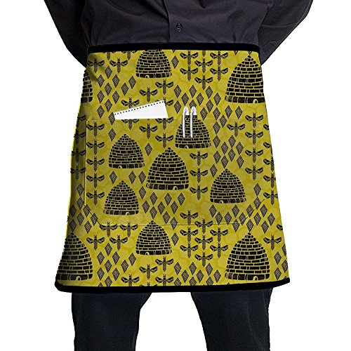 Honeycomb Bee Apron For Waitress Made Of Super Soft Sewing Apron Intended For Adult One Size BBQ Drill -