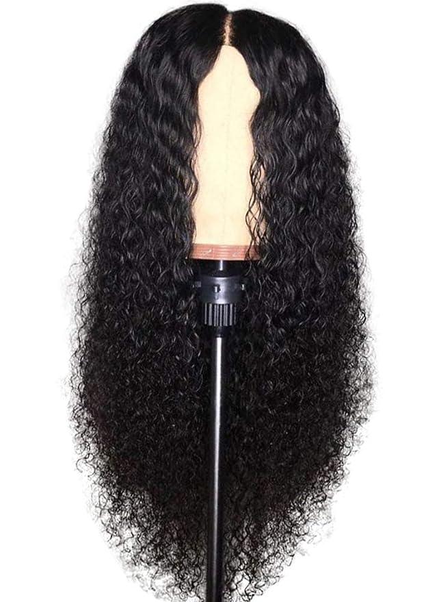 Beaty Perruque Femme Naturelle 100% Cheveux Humains Bresiliens Ondulé Deep Wave - Lace Front Frontal Wig Naturel Human Hair (Densité: 180%)