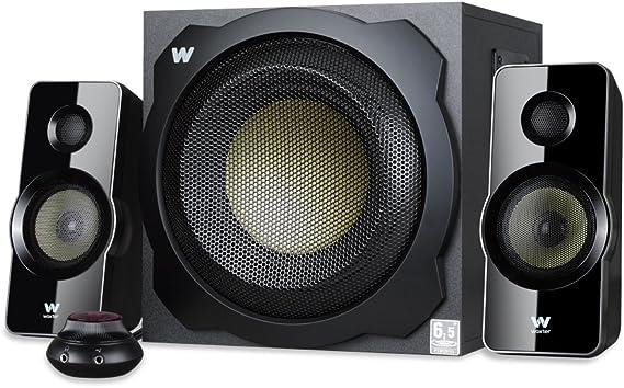 Woxter Big Bass 260 - Altavoces 2.1 (150W,Subwoofer de Madera,Control de Volumen con Cable y Doble conexión. Ideal para TV, PC y videoconsolas), Color Negro: Woxter: Amazon.es: Electrónica
