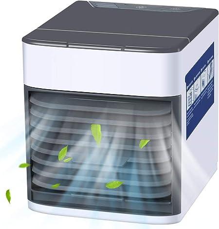 YUKAKI Mini ventilador de aire acondicionado port/átil