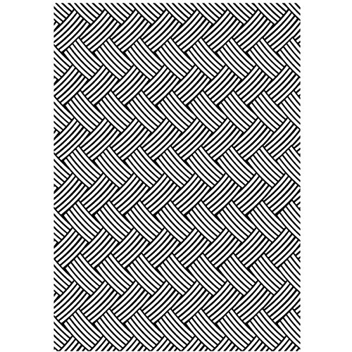 Darice Embossing Folder, 5 by 7-Inch, Basketweave from Darice