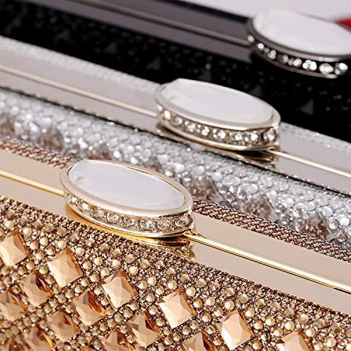 de Color Sac Soirée Shiny KERVINZHANG à Argent Noir Diamond Robe Gold de Main Sac Sac Gold Embrayage Luxe Or marée 7ttYwRTzq