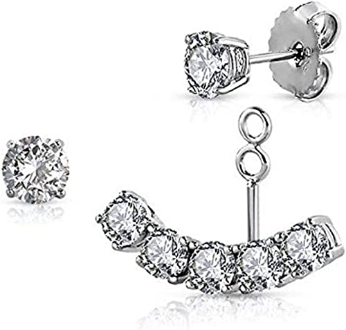 Optional Women Stud Hook Earrings Authentic S925 Sterling silver With CZ Jewelry