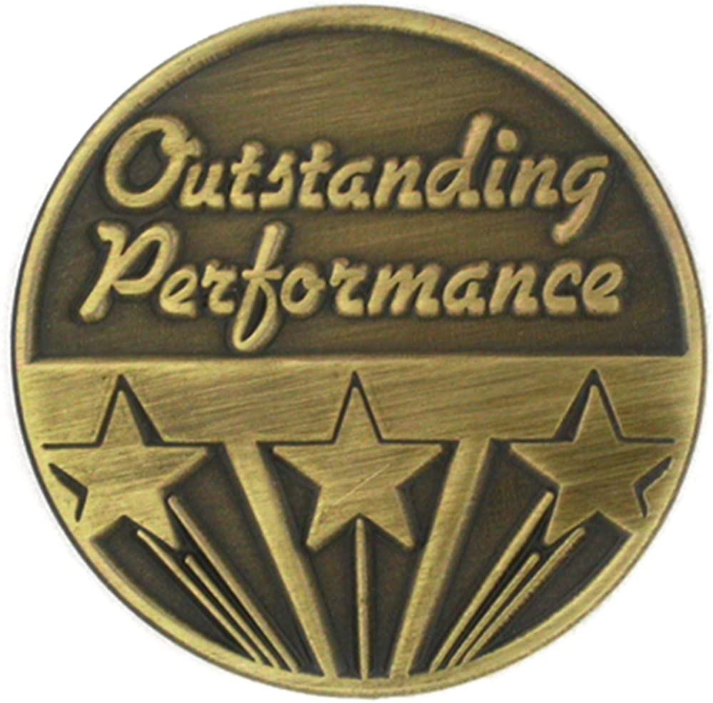 PinMart Antique Gold Outstanding Rare Corporate 25% OFF Performance Recogniti