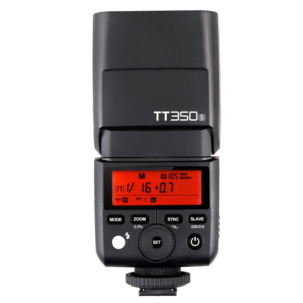 GODOX TT350S フラッシュ スピードライトTTL 2.4G ワイヤレス マスター&スレーブ 1 / 8000S HSS ミニ ポータブル スピードライト ソニー A7R A7RII ILCE6000L A77II A58 A99 ミラーレス ILDCカメラ用   B06XKW964S