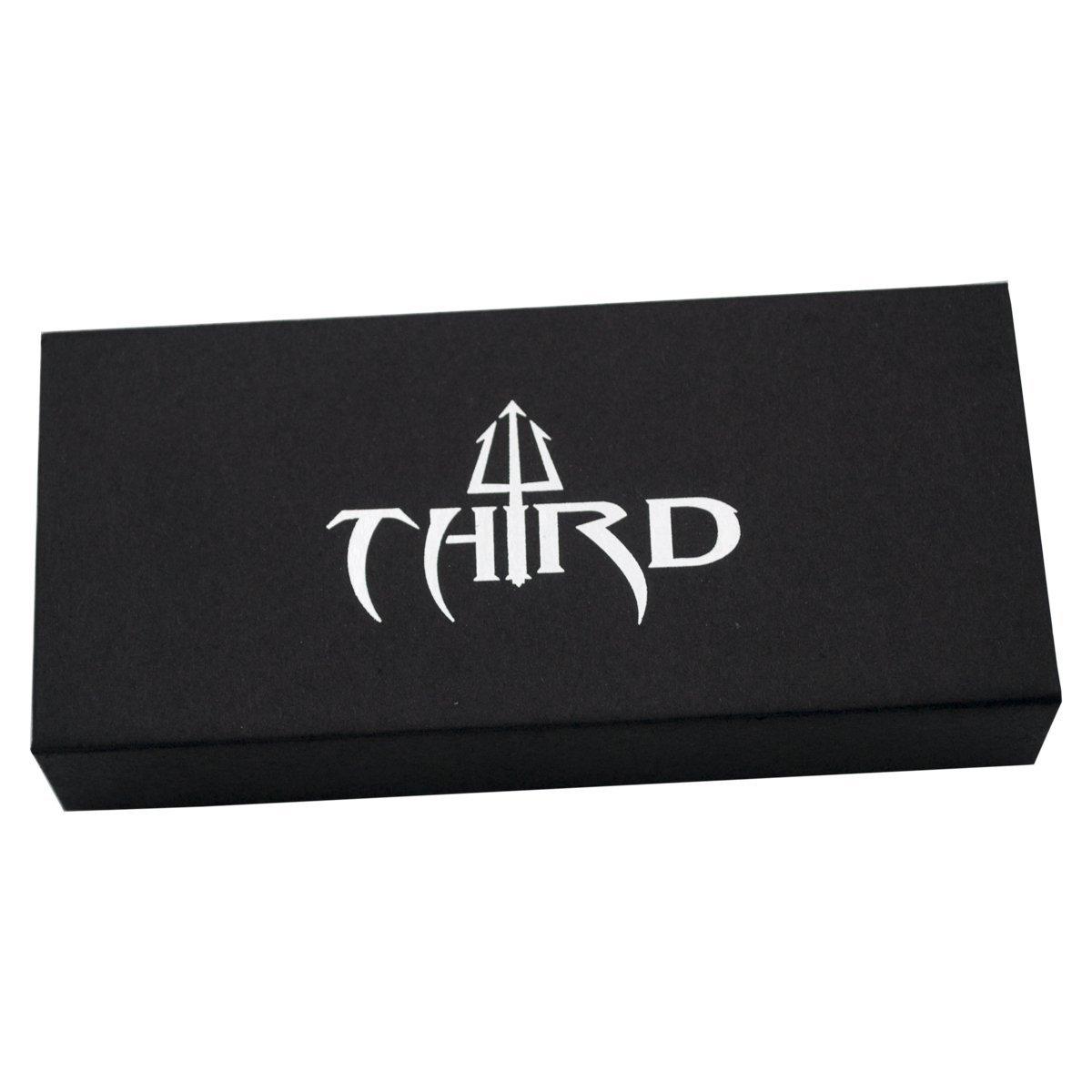 hoja de acero inox negra de 10.5 cm Navaja asistida de rescate Third 17576N Con clip y caja de presentaci/ón. mango de aluminio negro