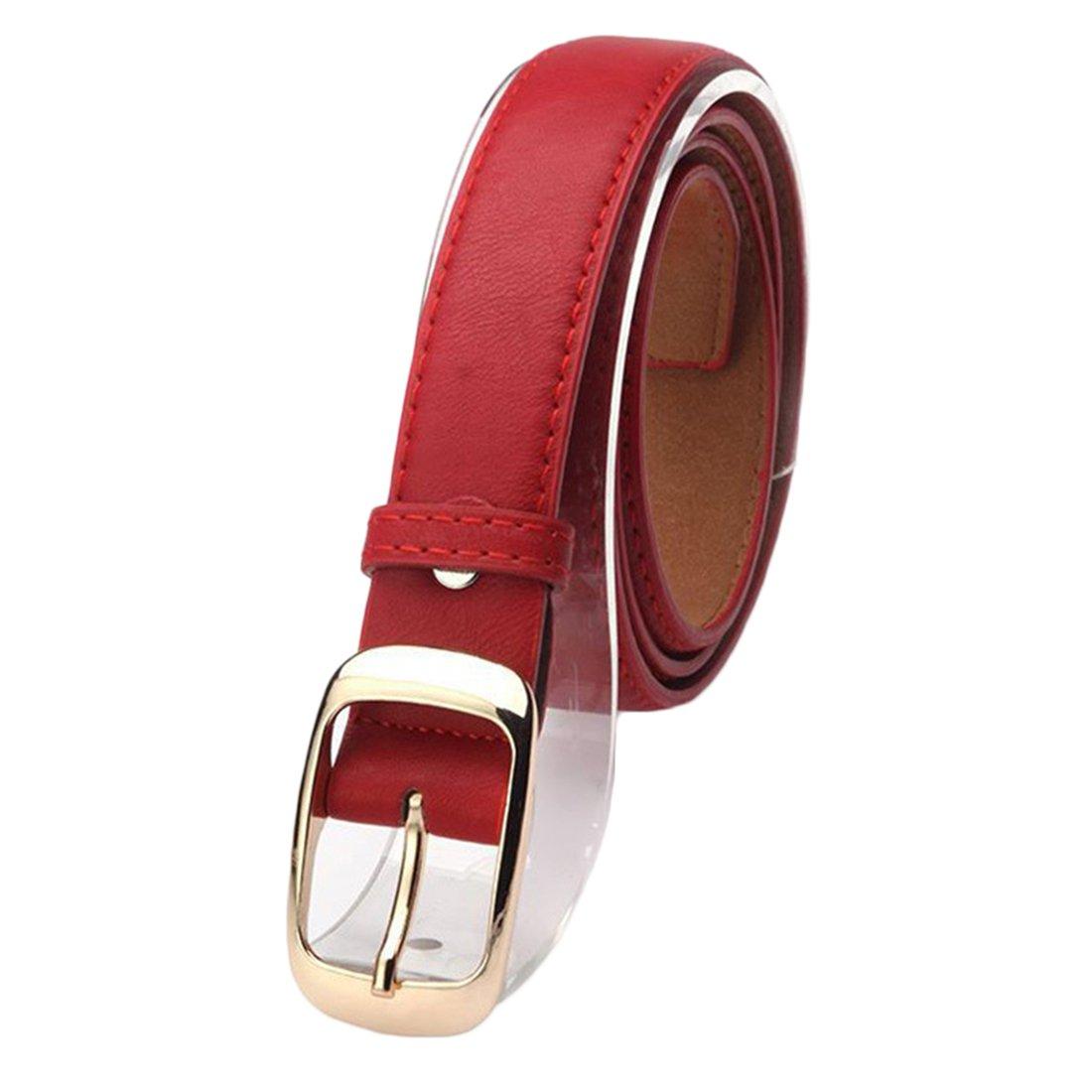 Bluelans® Fashion Women's Black Faux Leather Belt - 27mm(1.06