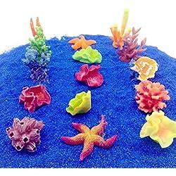 Muranba Aquarium fish tank simulation mini coral sea star multi-color plant suit