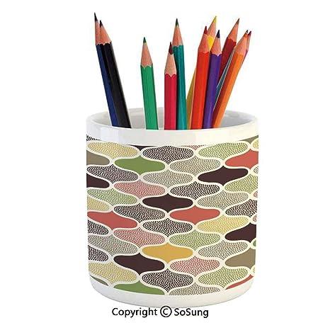 Amazoncom Printed Ceramic Pencil Pen Holder Case Box