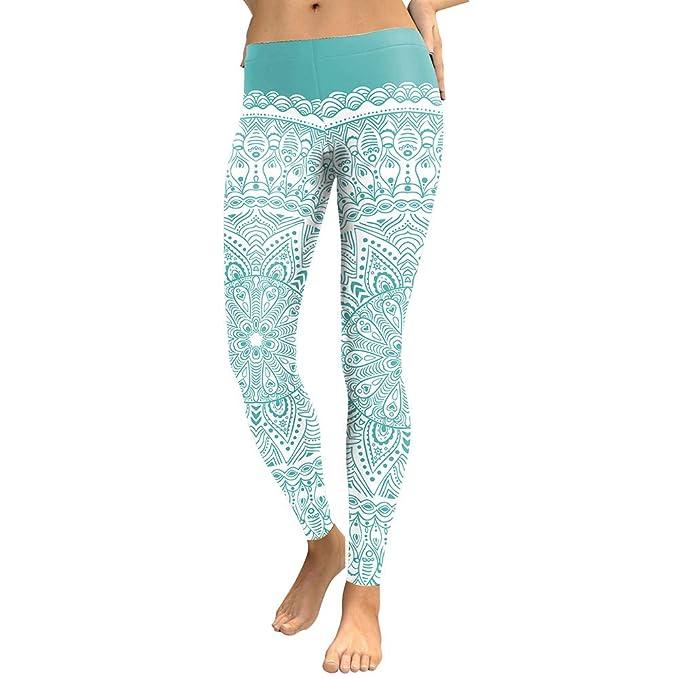 Amazon.com: HXX - Leggins de yoga para mujer, diseño redondo ...