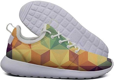 GHYDGY - Zapatillas de Running para Mujer con diseño de Estrella Triangular, Color Blanco: Amazon.es: Deportes y aire libre