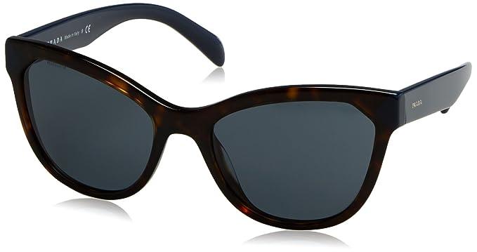 Prada Damen Sonnenbrille 0PR21SS 2AU2K1, Braun (Havana/Blue), 56
