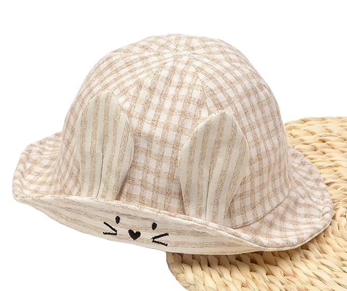 002efc5ad55ce Roffatide Baby Lovely Rabbit Ears Fishing Hat Toddler Kids Summer Anti-UV Reversible  Bucket Hats