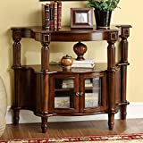 Venetian Worldwide Southampton Side Table, Antique Walnut Finish For Sale