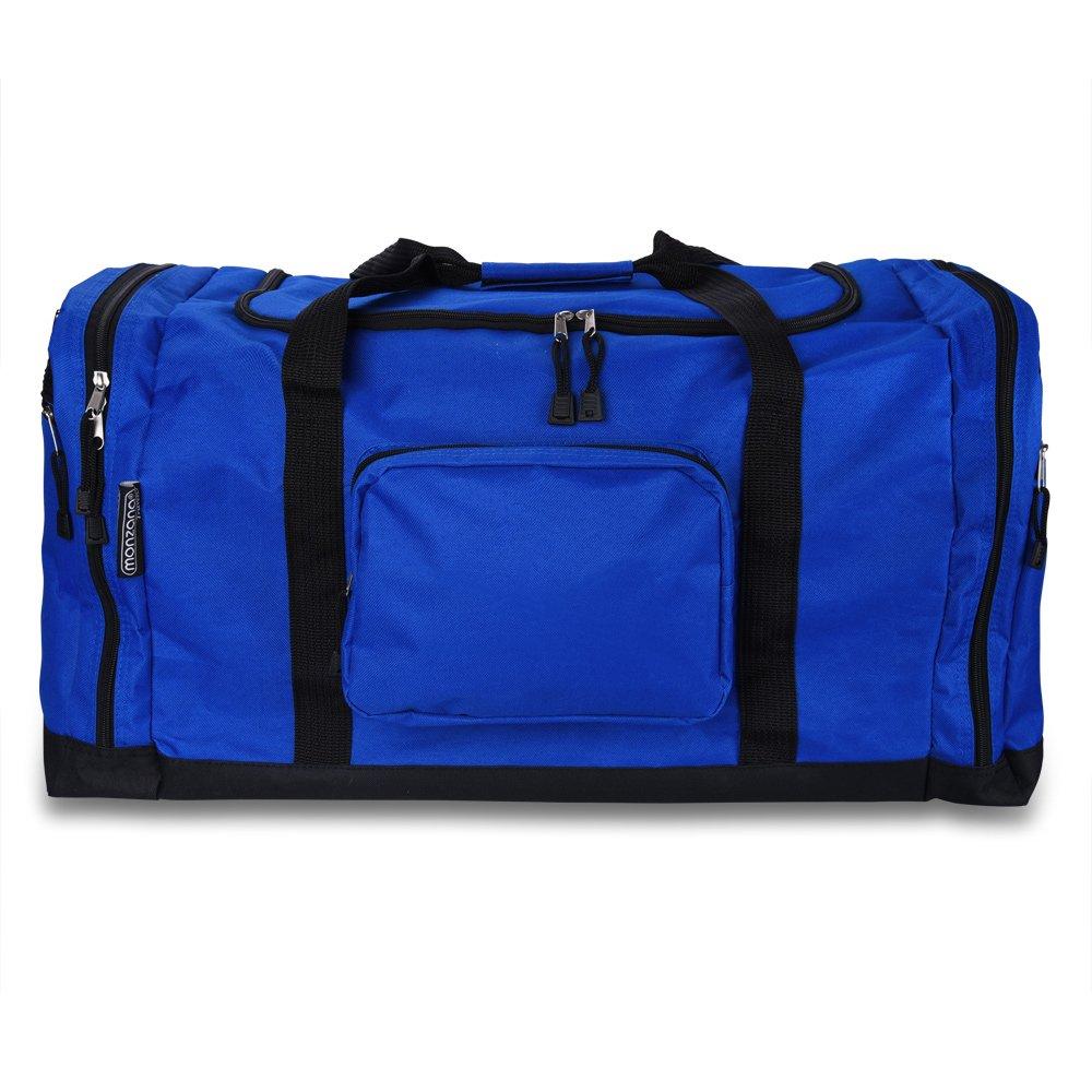 Sac de sport fitness football randonn/ée voyage transport 70cm 90L bleu