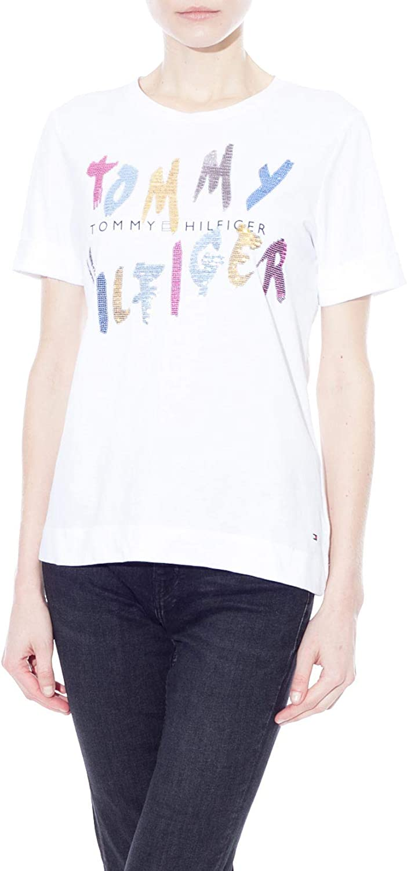 Tommy Hilfiger WW0WW26671 Camiseta Mujer XL: Amazon.es: Ropa ...