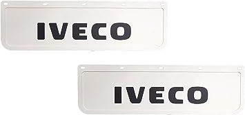 2 Stück Strapazierfähige Gummi Schutzbleche Schmutzfänger Für Lkw Weiß Mit Schwarzem Lkw Anhänger 60 X 18 Cm Auto
