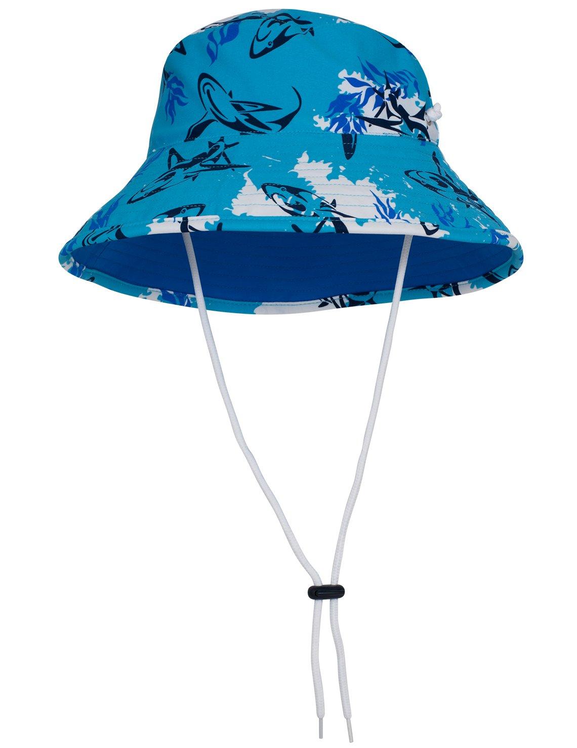 Tuga Boys Bucket Hat (UPF 50+), Laguna, X-Large