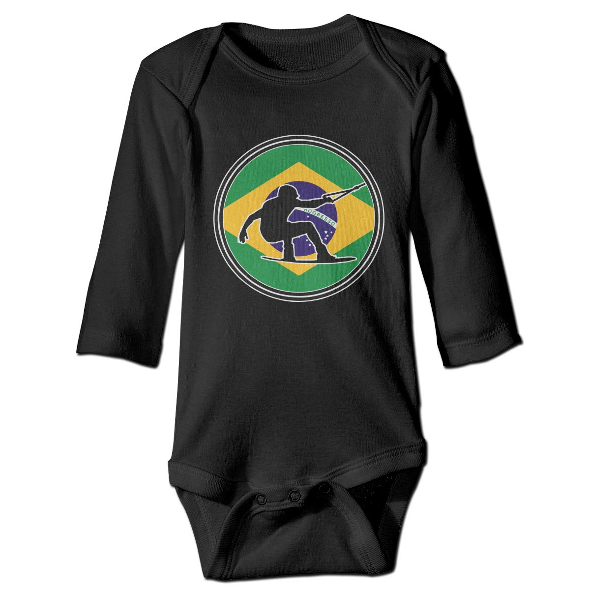 CZDedgQ99 Toddler Wakeboard Brazil for Long Sleeve Climbing Clothes Pajamas Sleepwear Suit 6-24 Months