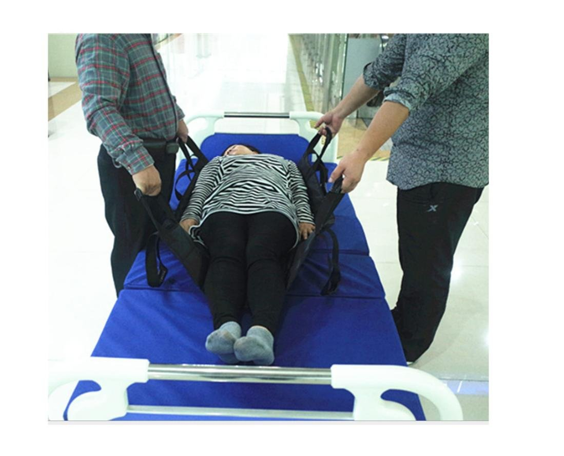 WE&ZHE Medical Care Patient Transfer Pad Shifter / Hemiplegic Belt With Waterproof Shift Belt-Thickened Oxford PVC Waterproof Cloth (BLACK) -108 68cm