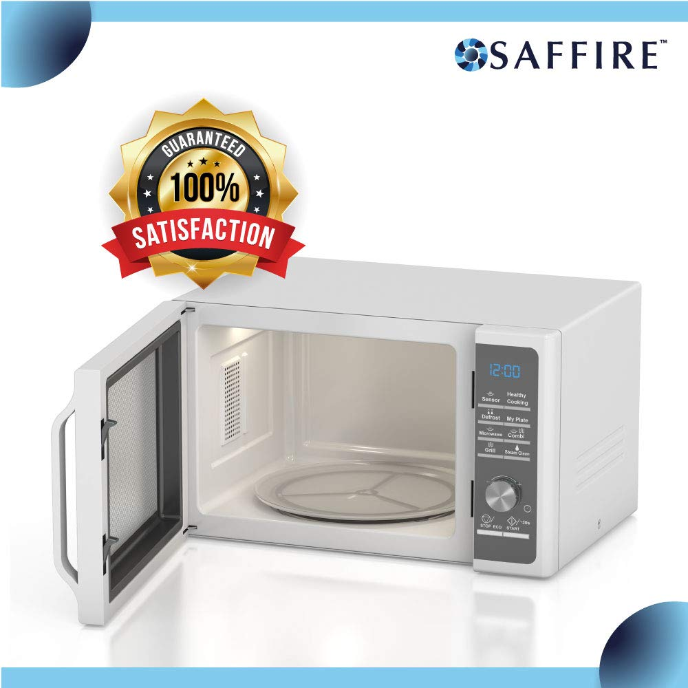 Saffire 9.6'' / 24.5cm Small Glass Microwave Plate - Flat Bottom Plate Replaces 3390W1A035 by Saffire