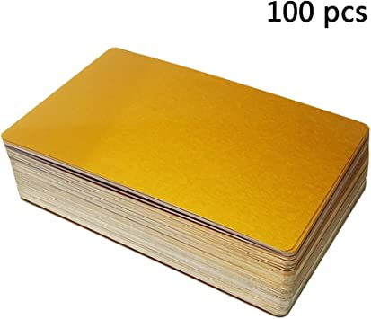 Laser Engraver and CNC engraving Color options available 100 Gold Anodized Aluminum Business Card Blanks Malayan