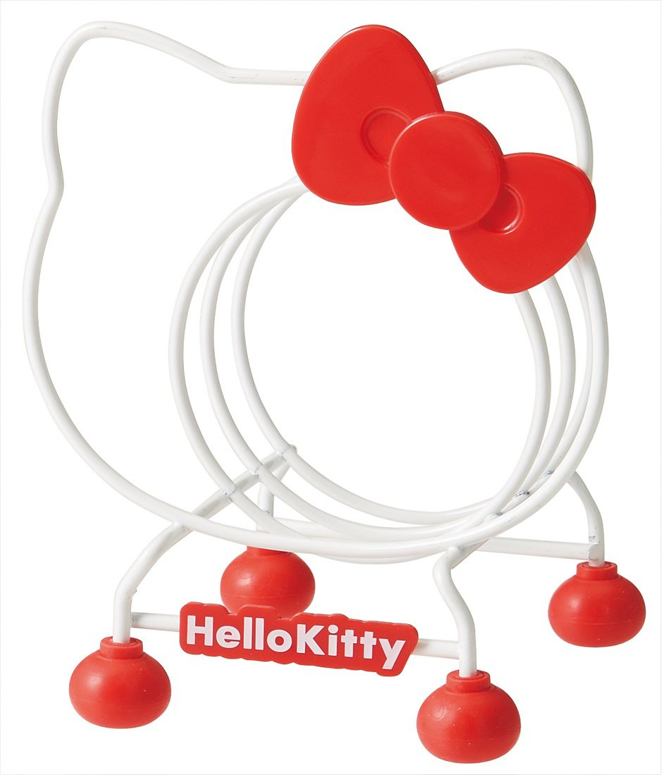 Hello Kitty Wire Cutting Board Organizer Stand Rack Plates Rack from Japan