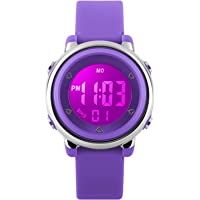 Relojes deportivos digitales para niñas Yesure. Reloj deportivo impermeable de 5 ATM con cronómetro de alarma, 7 luces…