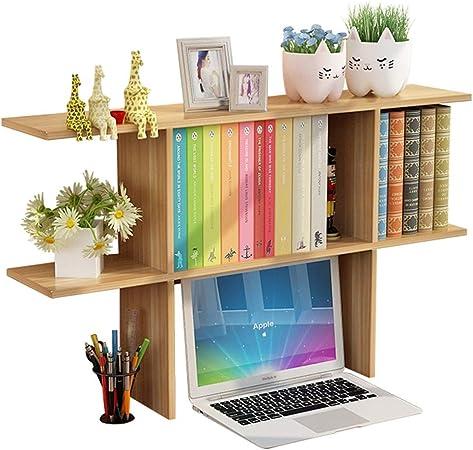 Librerías Estante para Libros Estantería pequeña Estante de Almacenamiento de Mesa Simple Estante de Escritorio estantería pequeña estantería para Estudiantes (Color : Wood Color, Size : 65x18x52cm): Amazon.es: Hogar